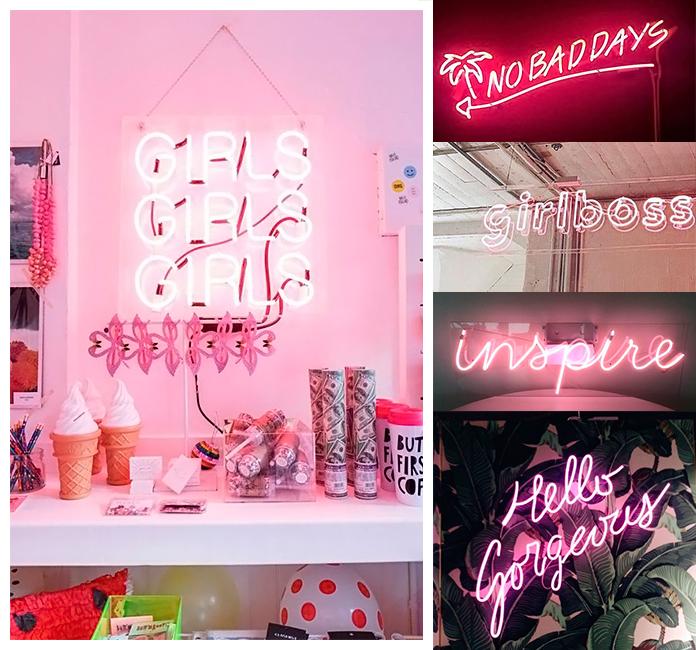 46 decorac oes rosa placa neon