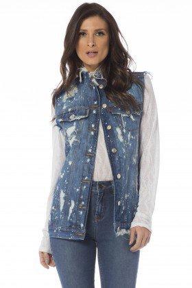 colete jeans oversize puidos dz9074 frente proximo denim zero