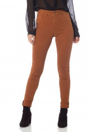 calca skinny media colors dz2560 cinnamon frente proximo denim zero