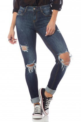 calca skinny media com rasgos dz2636 frente proximo denim zero