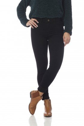 calca skinny media colors dz2560 preto frente proximo denim zero