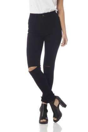 calca skinny media colors dz2564 preto frente proximo denim zero