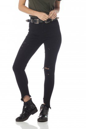 calca skinny media cigarrete barra irregular dz2630 frente proximo denim zero