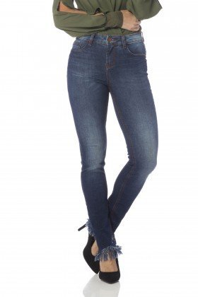 calca skinny media barra desfiada dz2634 frente proximo denim zero
