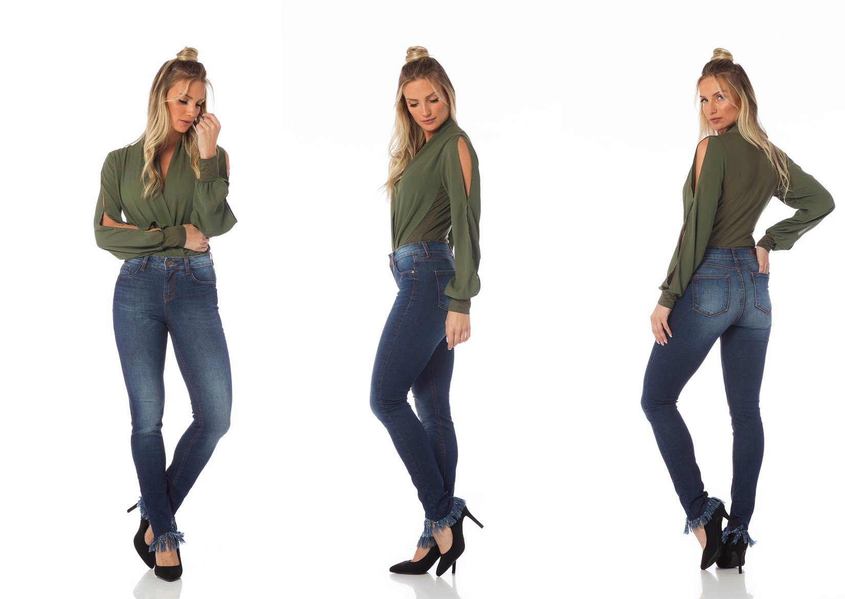 calca skinny media barra desfiada dz2634 tripla denim zero