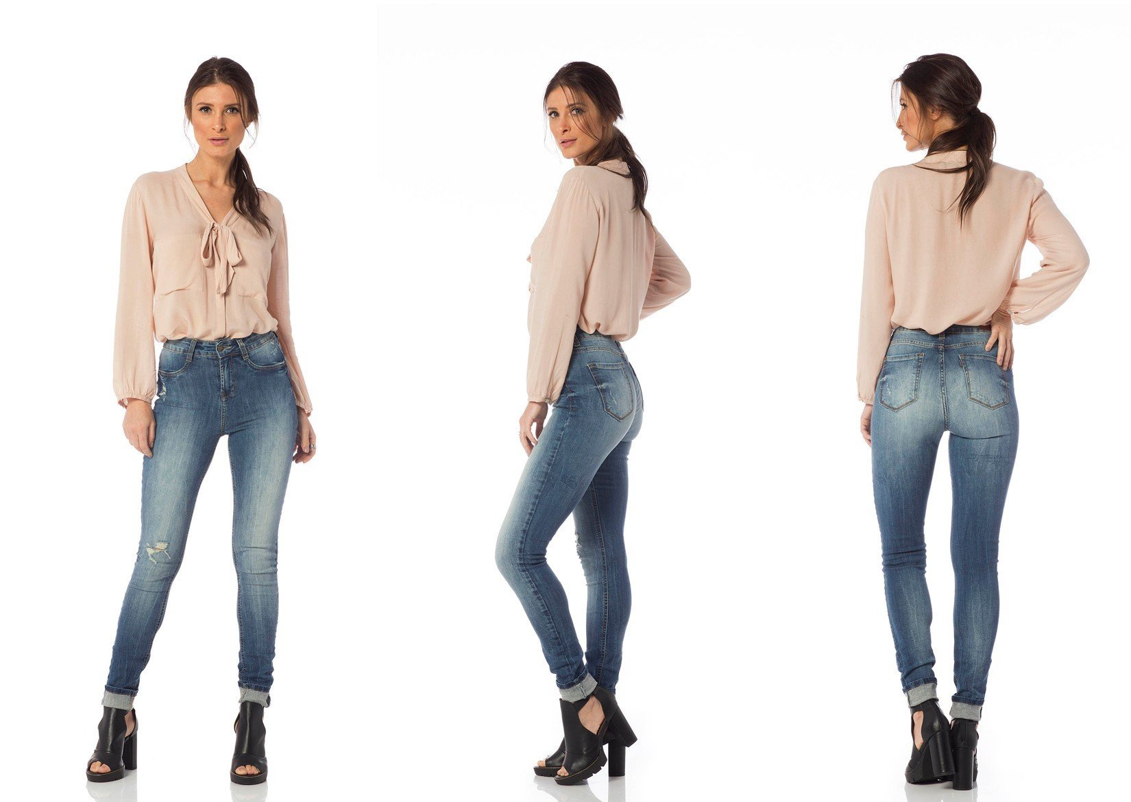 calca skinny media puidos dz2637 tripla denim zero