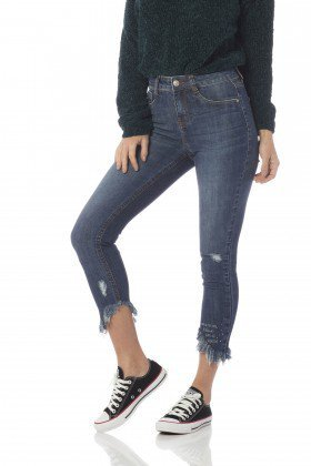 calca skinny media cropped puidos dz2640 frente proximo denim zero
