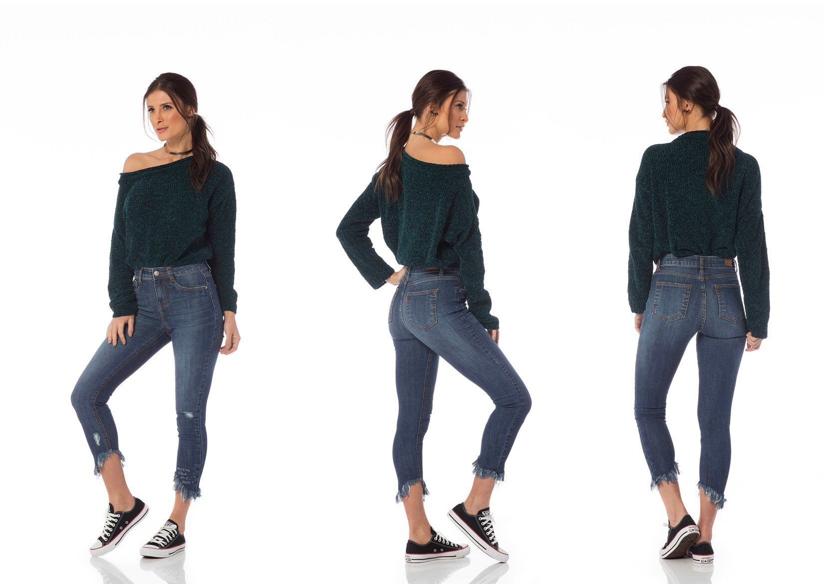 calca skinny media cropped puidos dz2640 tripla denim zero