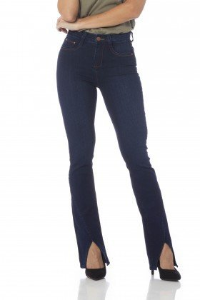 calca boot cut media barra diferenciada dz2646 frente proximo denim zero