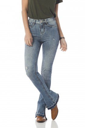 calca new boot cut media fenda barra dz2647 frente proximo denim zero