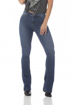 calca boot cut media estonada dz2442 frente proximo denim zero