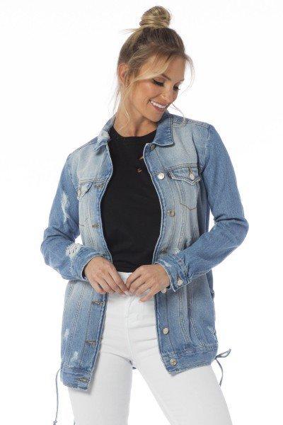 jaqueta jeans oversize clara dz9076 frente proximo denim zero