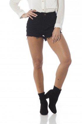 shorts jeans setentinha preto dz6215 frente proximo denim zero
