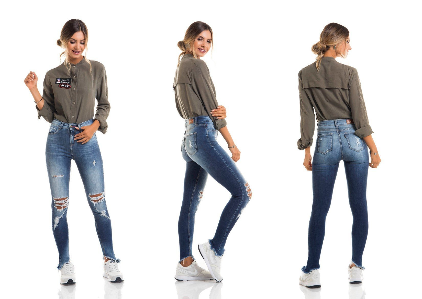 dz2681 calca skinny media tripla