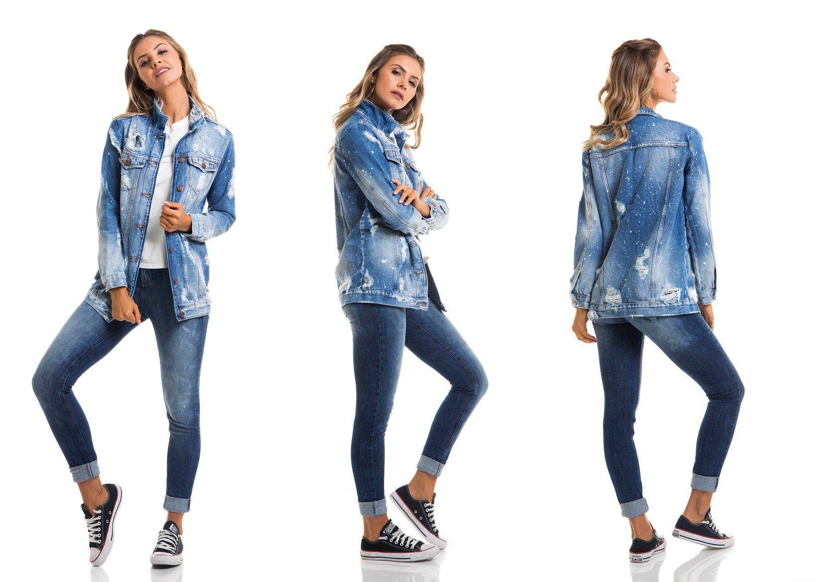 dz9079 jaqueta oversize tripla