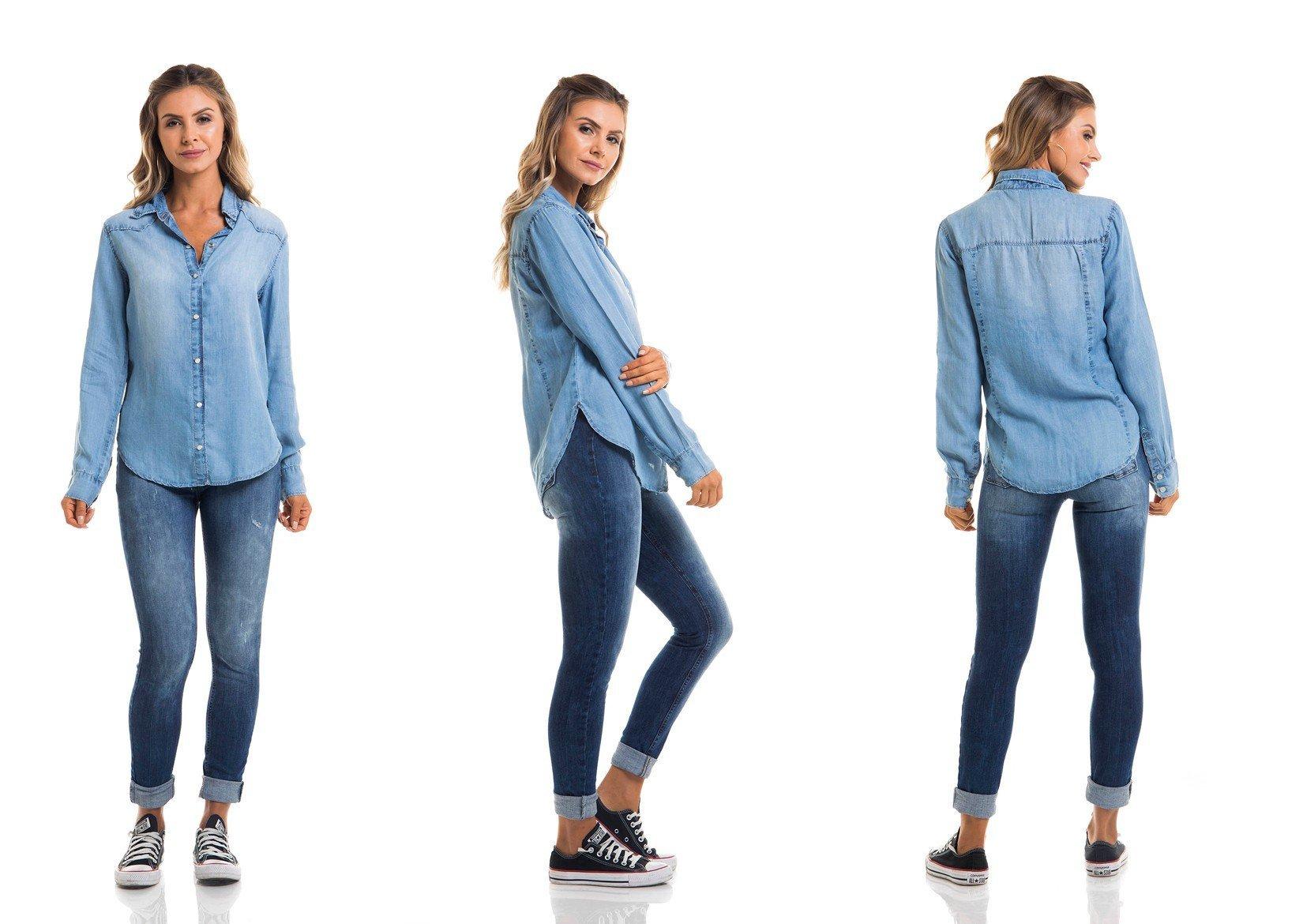 dz11122 camisa ml solta tripla