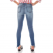 dz2701 calca skinny media barra inclinada denim zero costas cortada
