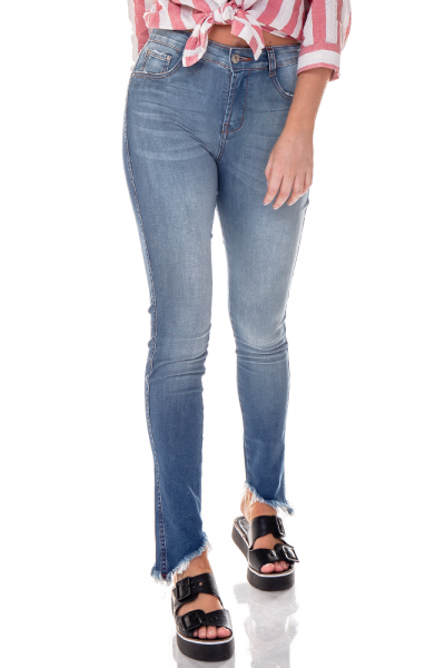 dz2701 calca skinny media barra inclinada denim zero frente cortada