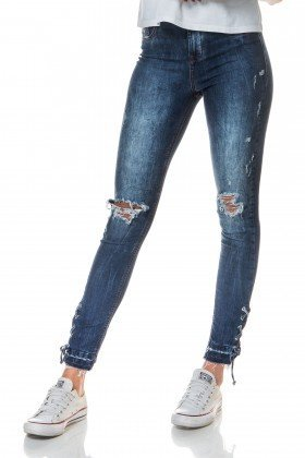 dz2697 calca skinny media cigarrete trancado lateral barra frente proximo