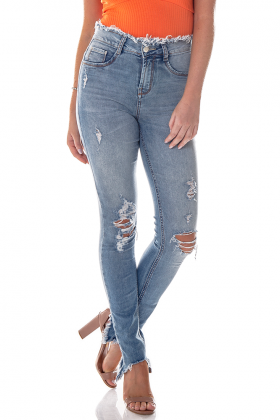 dz2702 calca skinny media cos desfiado denim zero frente cortada