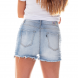 dz6253 shorts pin up claro denim zero costas cortado