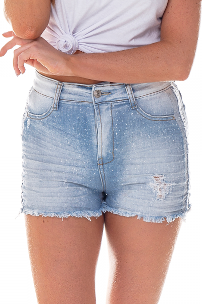 dz6253 shorts pin up claro denim zero frente cortado