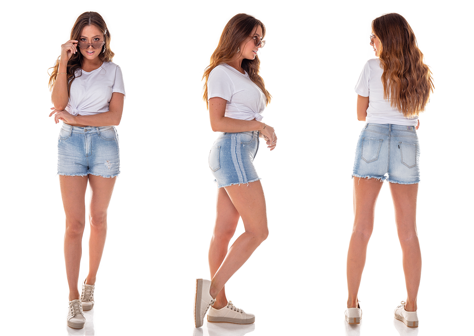 dz6253 shorts pin up claro denim zero tripla