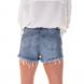 dz6234 shorts young com bordado denim zero costas cortado