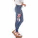 dz2704 calca skinny gigarrete media bordado denim zero lateral cortada