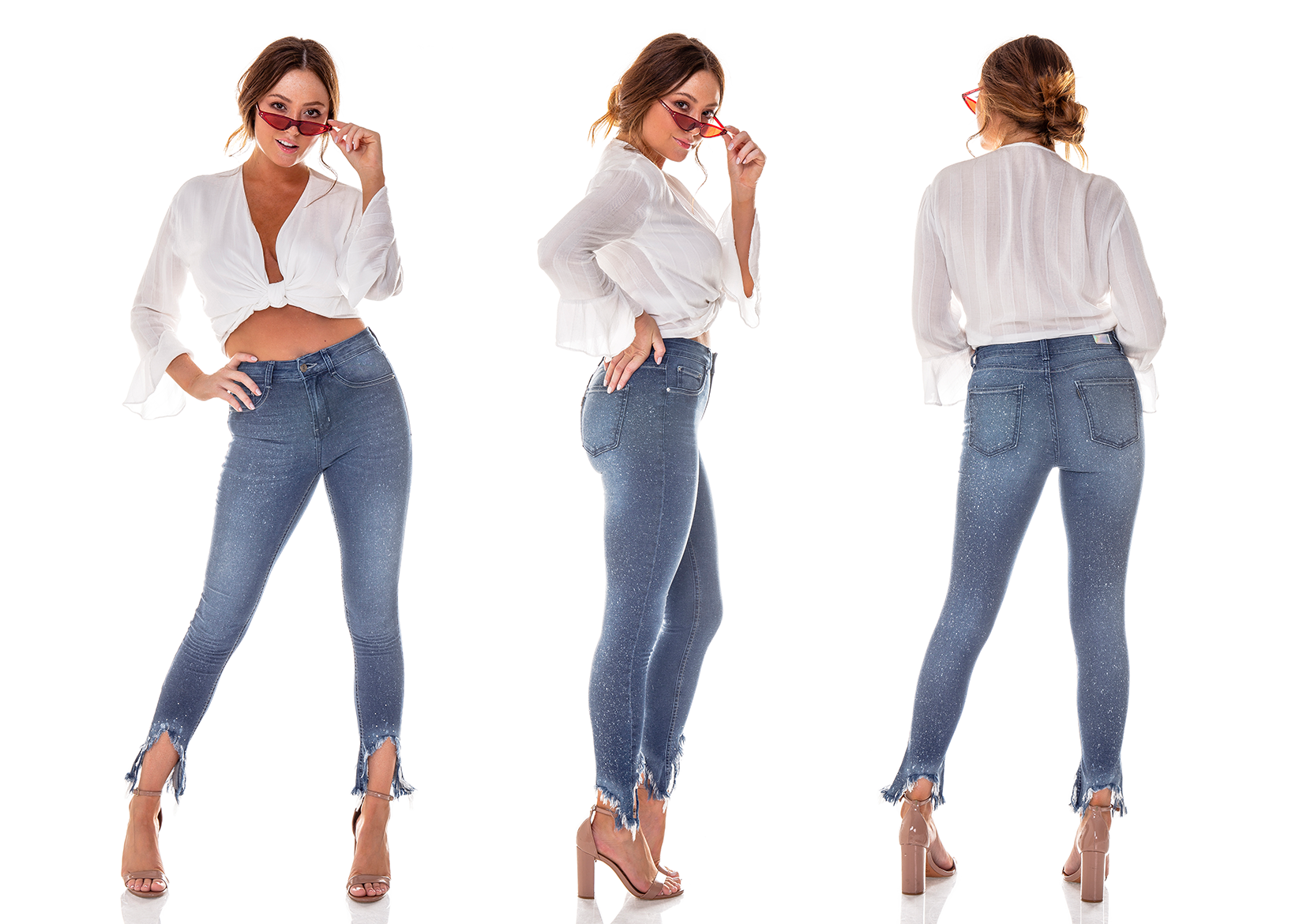 dz2714 calca skinny cigarrete media respingos denim zero tripla