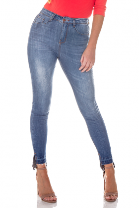 dz2713 calca skinny cigarrete media barra mullet denim zero frente cortada