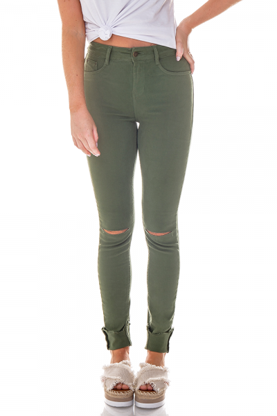 dz2564 11 clorofila calca skinny media colors joelho rasgado denim zero frente cortada