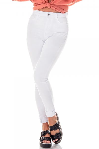 c29090da9dbd6 ... dz2695 11 branco calca skinny cintura alta black and white denim zero  frente proxima