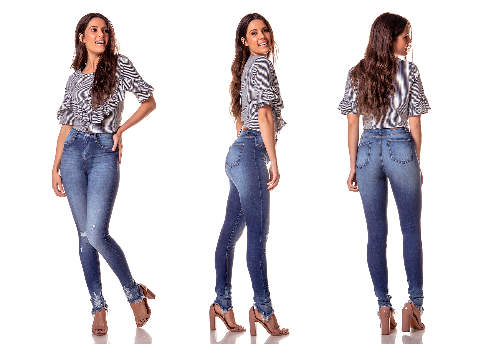 dz2736 calca skinny media puidos barra denim zero tripla