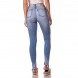 dz2737 calca skinny media barra inclinada denim zero costas cortada