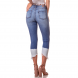 dz2741 calca skinny cropped media barra clara denim zero costas cortada