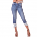 dz2741 calca skinny cropped media barra clara denim zero frente cortada