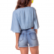 dz6235 shorts pin up barra dobrada denim zero costas cortada