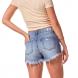 dz6241 shorts young com rasgos e fita lateral denim zero costas cortada