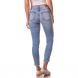 dz2746 calca skinny cigarrete media dois tons denim zero costas cortada