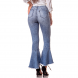 dz2747 calca boot cut cropped media marmorizado denim zero costas cortada