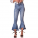 dz2747 calca boot cut cropped media marmorizado denim zero frente cortada