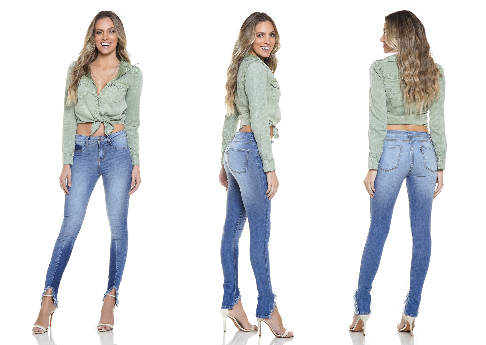 dz2755 calca skinny media tripla denim zero