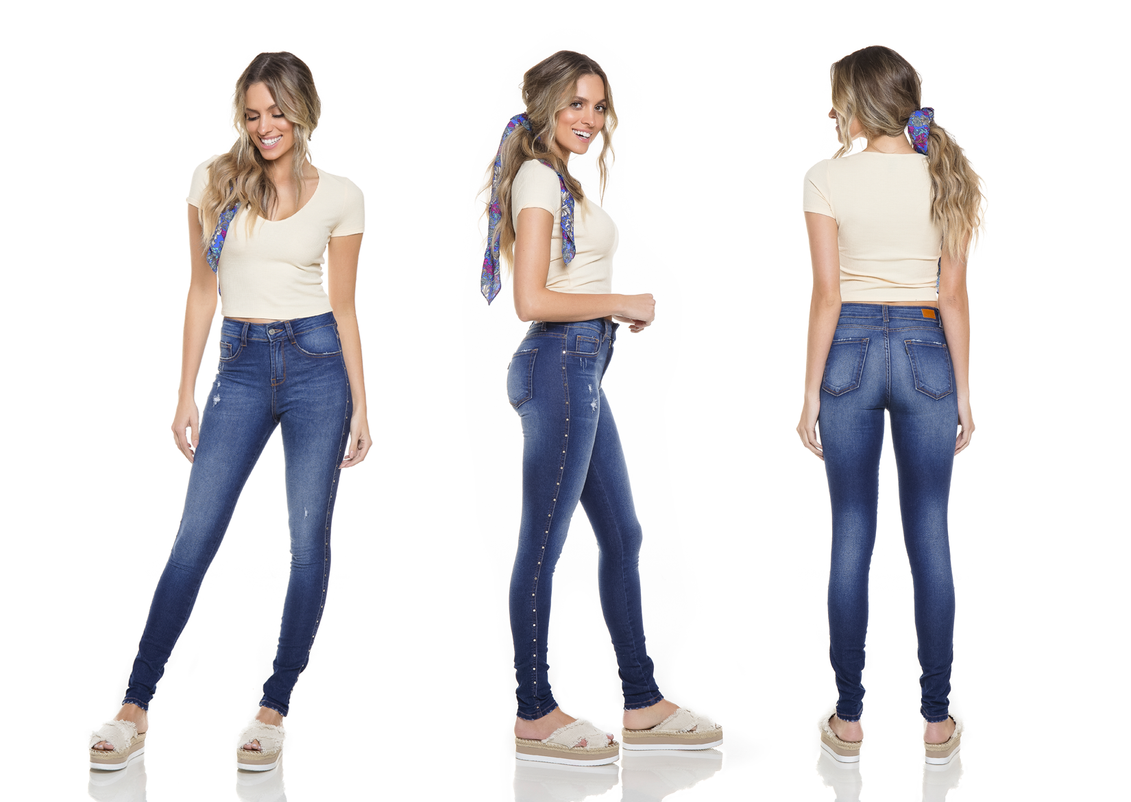 dz2765 calca skinny media tripla denim zero