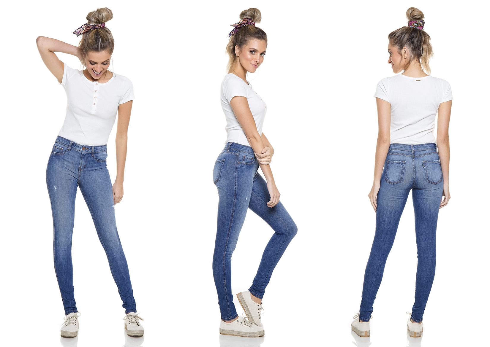 dz2767 calca skinny media tripla denim zero
