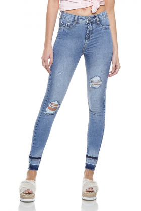 dz2762 calca skinny hot pants cigarrete zoom frente denim zero