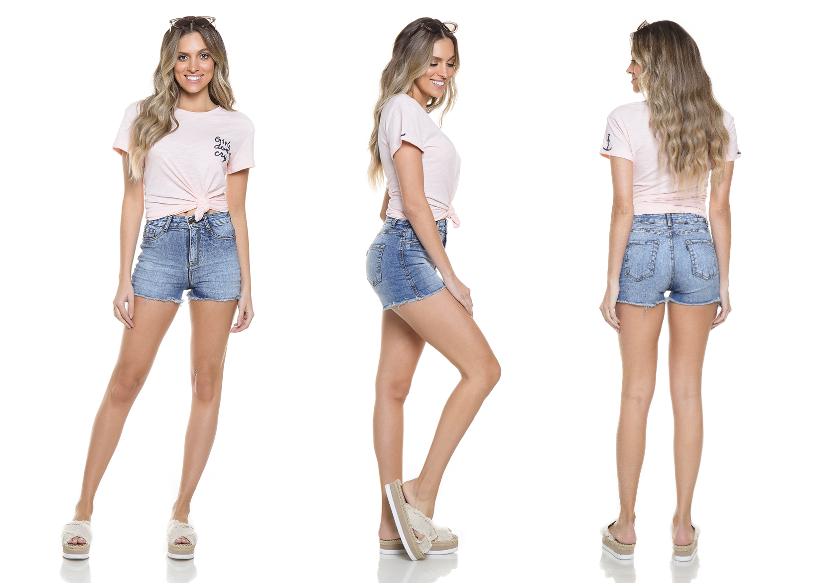 dz6245 shorts pin up tripla denim zero