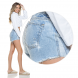 dz6251 shorts young detalhe lateral denim zero