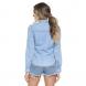 dz11129 camisa jeans solta costas proximo denim zero