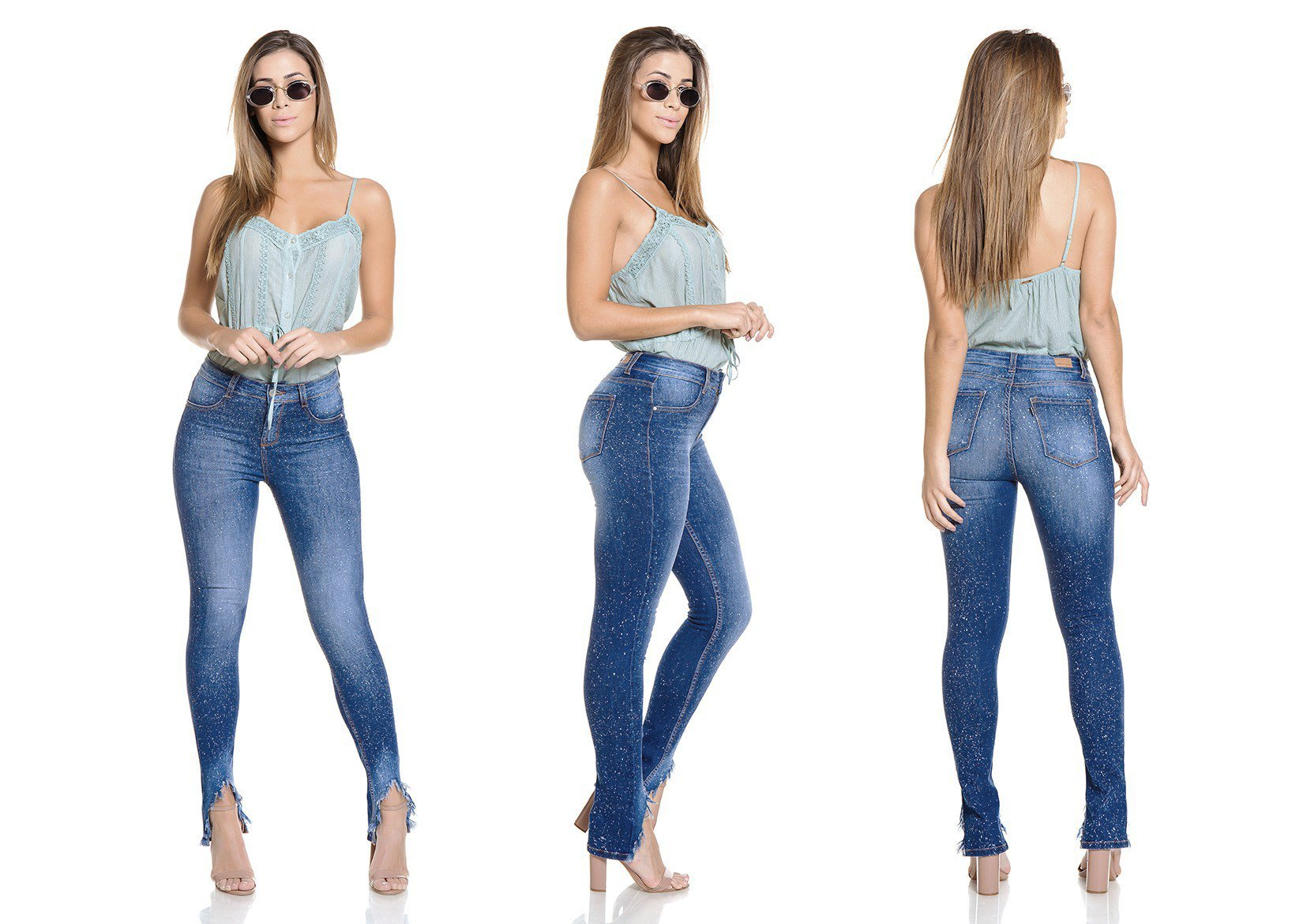dz2775 calca skinny media tripla